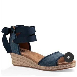 New UGG denim wedges size 8